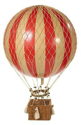 G395: Great Historical Helium Balloon Red White, Jules Verne 42 Cm