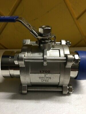 "2"" Inch Full Port Ball Valve  Vicktolic Stainless Steel  1000WOG Values Hot/Cold"
