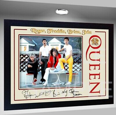 NEW! Freddie Mercury Queen signed autograph Music pre-print poster photo Framed