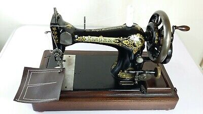 1906 Antique Singer 28K Handcrank Sewing Machine, FULLY SERVICED, SEWS LEATHER