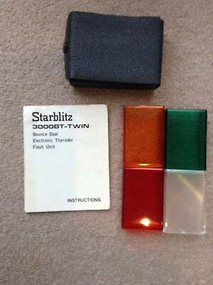 Colour Filters And Original Instruction Book Starblitz 3000BT-Twin