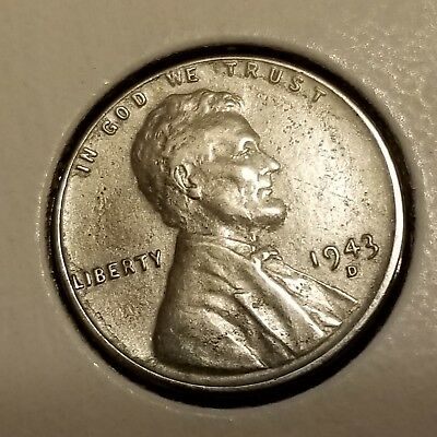 1943-D Lincoln Cent Wheat Penny, Wartime Steel Penny