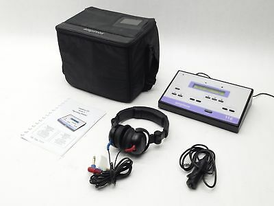 Amplivox 116 Portable Audiometer Diagnostic Hearing Test W/ Case+Headset+Manual