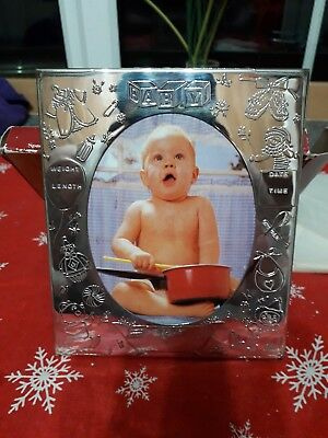 Silver Plated Oval Baby Photo Frame