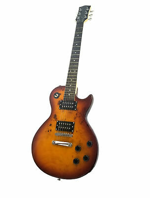 LP Style BURL MAPLE SUNBURST Tobacco EXOTIC WOOD - Custom Electric Guitar