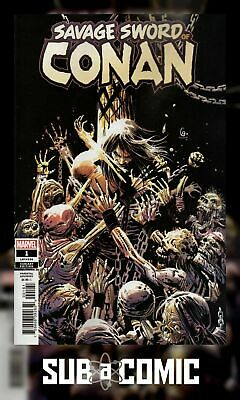 SAVAGE SWORD OF CONAN #1 GARNEY 1:25 VARIANT (MARVEL 2019 1st Print) COMIC