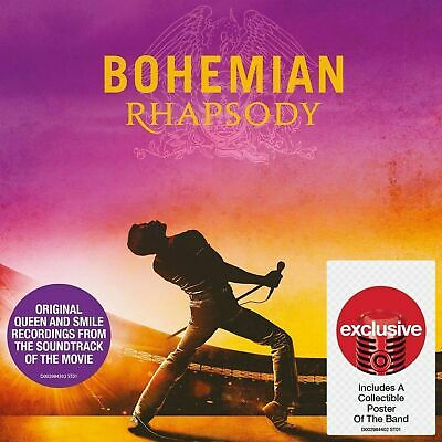 Queen Bohemian Rhapsody CD 2018 Target W/ COLLECTIBLE POSTER