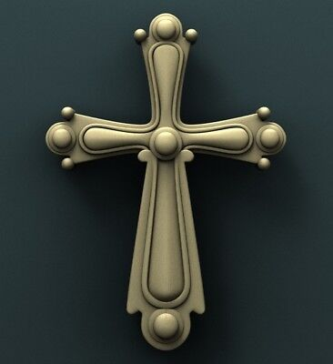 3d STL Model Relief for CNC Router Aspire _ (0542) Cross