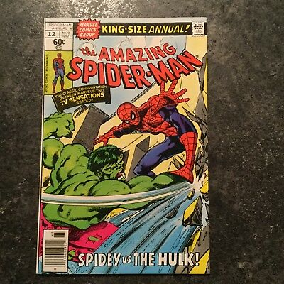 Amazing Spider-Man Annual 12 cents copy Hulk battle VeryFine