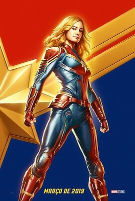 Captain Marvel movie poster (c)  Brie Larson - 11 x 17 inches
