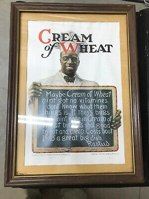Cream of Wheat print 1921 , Old Dutch Cleanser 1916 , & Cartoon Print From 20's