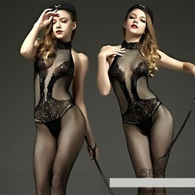 Floral Bra Fishnet Seamless Crotchless Multi Strip Shoulder Bodystocking UK 6-14