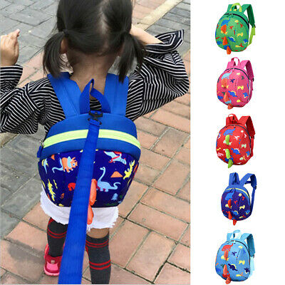 Dinosaur Early Schoolbag Anti-lost Baby Kids Safety Harness Backpack With Reins