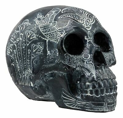 Black Ancient Egyptian Gods Paranormal Voodoo Scarab Dung Beetle Skull Statue
