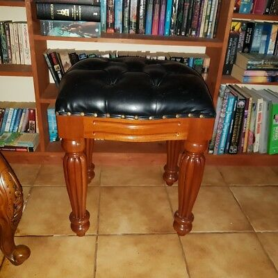 Antique Regency style, solid mahogany stool, bench, seat