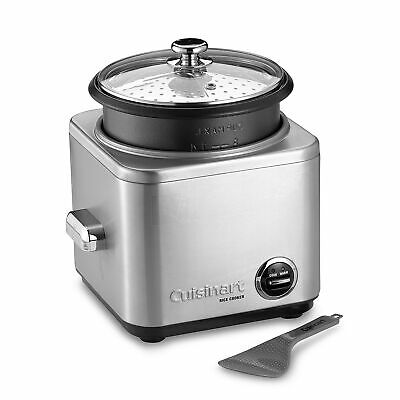 Cuisinart Rice Cooker 8 to 15 Cup + Steamer Stainless Steel Retractable Cord