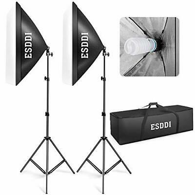 ESDDI Softbox Kit Luz de Iluminacion Estudio Fotografia, con 2 (2 Set)