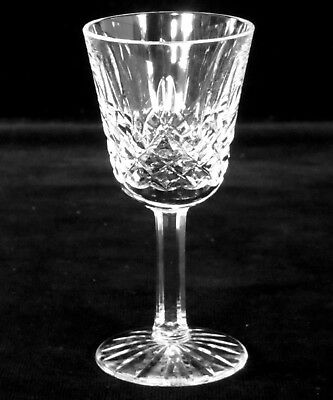 """Waterford Crystal Lismore Stemmed Liqueur Cordial Shot Glass 3 1/2"""" Tall Signed"""