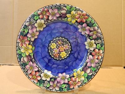 Maling Clematis Flowers Charger Plate Antique [b]