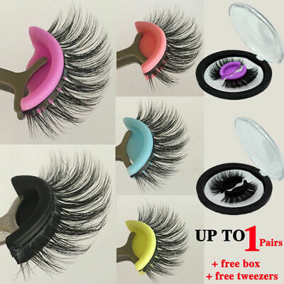 3D Natural Fake Eyelashes Long Wispy False Lashes Reusable Self Adhesive Eyes
