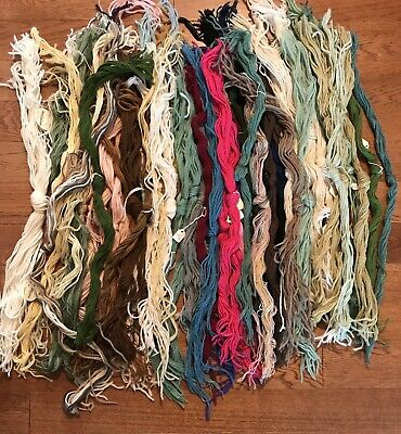 Lot of Crewel Needlepoint Embroidery Wool Yarn Assortment of Colors