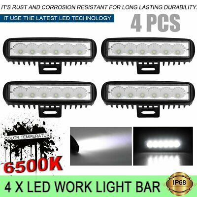4x6inch 30W LED Work Driving Light Bar Cree Flood Beam Offroad 4WD Reverse 4x4 A