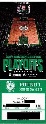 BOSTON CELTICS v CHICAGO BULLS ROUND 1 GAME 5 TICKET STUB 4/26/2017 @ TD GARDEN
