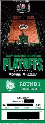 BOSTON CELTICS v CHICAGO BULLS ROUND 1 GAME 1 TICKET STUB 4/16/2017 @ TD GARDEN