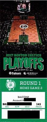BOSTON CELTICS v CHICAGO BULLS ROUND 1 GAME 2 TICKET STUB 4/18/2017 @ TD GARDEN