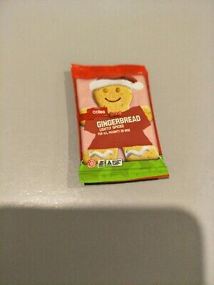 Coles Little Shop Mini Collectable Christmas Gingerbread Man cookie Free Postage