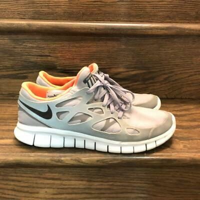 super popular 01152 45e8c MENS NIKE FREE Run 2 H20 Repel Grey/Orange Reflective Running Shoes Sz. 9.5
