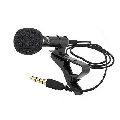 3.5mm Wired Clip-on Mini Lapel Lavalier Microphone Mic for Mobile Phone PC Fine