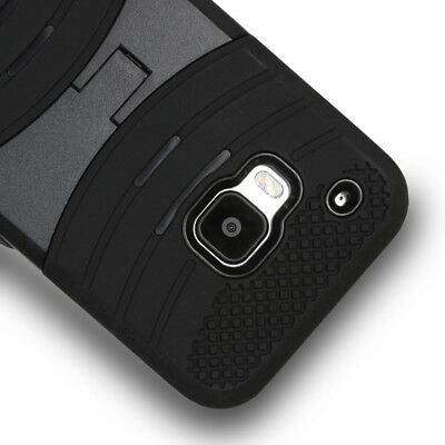 For HTC One M9 Rugged Shockproof Hybrid Curve Kickstand Hard Case Cover