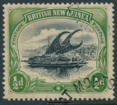 1901 BNG ½d Black & Yellow-Green, vertical wmk, SG 9, Fine Used.