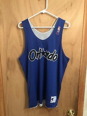 d685830e793 ORLANDO MAGIC Vtg 90s CHAMPION Reversible Practice uniform Jersey Penny  Shaq L