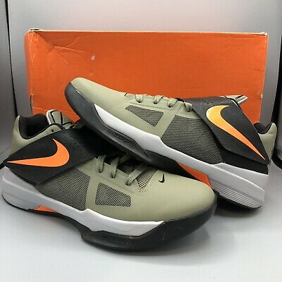 2299e35d9d91 Nike Zoom KEVIN DURANT KD IV 4 ROGUE GREEN ORANGE UNDFTD 473679-302 Size  10.5