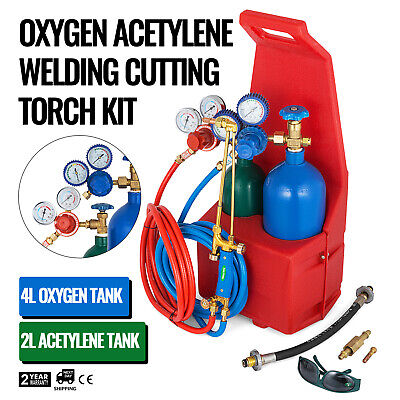 Oxygen Propane Welding Cutting Torch Kit Tote Portable Oxy 2 YEARS WARRANTY