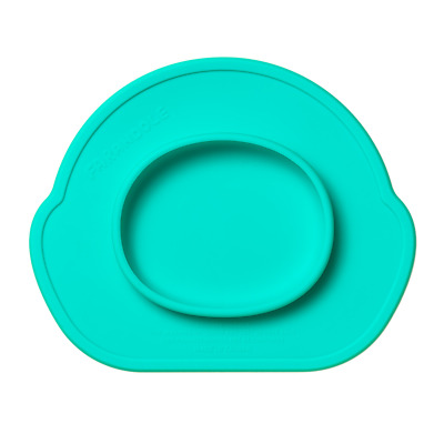 Farandole Safety One Piece Silicone Eating Mat Child Food Plate Tableware