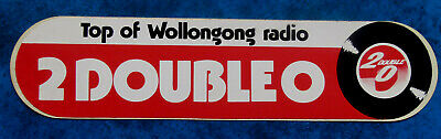 2 DOUBLE O  Wollongong .. Original Vintage  1980,s Radio Station sticker