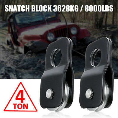 Winch Snatch Block Pulley Off Road-Recovery Heavy Duty 4 Ton Tonne 4x4 New