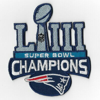 Super Bowl 53 LIII Champions New England Patriots Iron on Patches C Patch FN