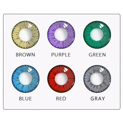 1Pair Colored Contact Lenses Yearly Use Cosplay Party Colorful Eye Makeup Cortés
