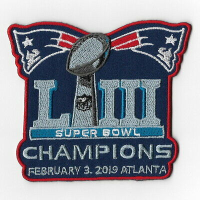 Super Bowl 53 LIII Champions New England Patriots Iron on Patches E Patch FN