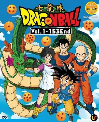 DVD Anime DRAGON BALL Complete Series (1-153 End) English Subtitle All Region
