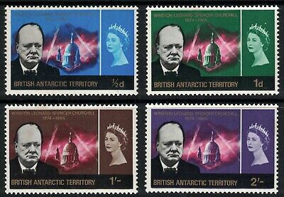 British Antarctic Territory, 1966, Churchill Set, Sg16-19, Lightly Mounted Mint.