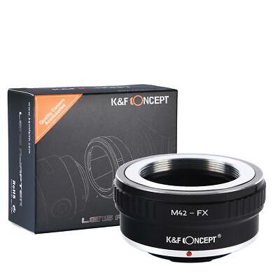 K&F Concept M42-FX Adapter Ring for M42 Lens to Fuji Fujifilm FX Mount Cameras