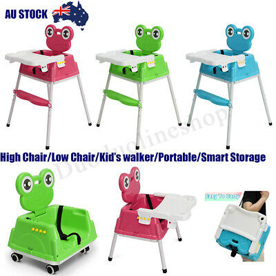 Portable 4 IN 1 Baby Kid Toddler Infant Highchair Feeding Recliner Seat Chair