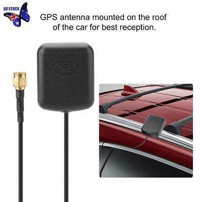 GPS Antenna SMA Male Plug Active Aerial Extension Cable for Navigation Head Unit