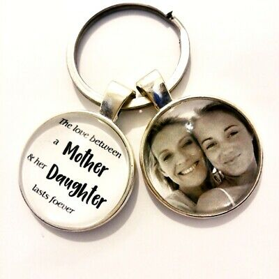 Mother Daughter personalised photo keyring Birthday Gifts Mum Presents Christmas
