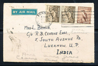 Air Mail Cover Australia to Lucknow India (230)